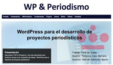 Web sobre el uso de Wordpress en Proyectos periodísticos